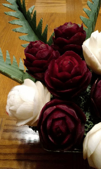 Beet roses from Hearts and Roses lessons