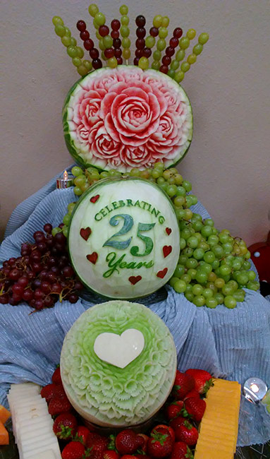 25th wedding anniversary carvings by Yolanda Diaz