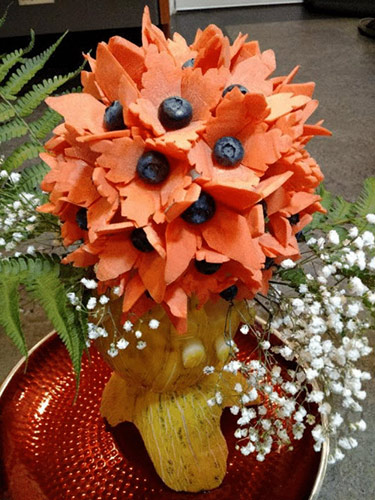 Carrot flower arrangement by Dean