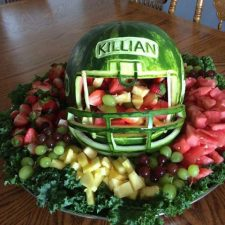watermelon football helmet for singing day celebration