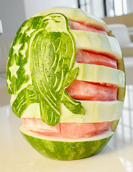 4th of July Eagle watermelon carving