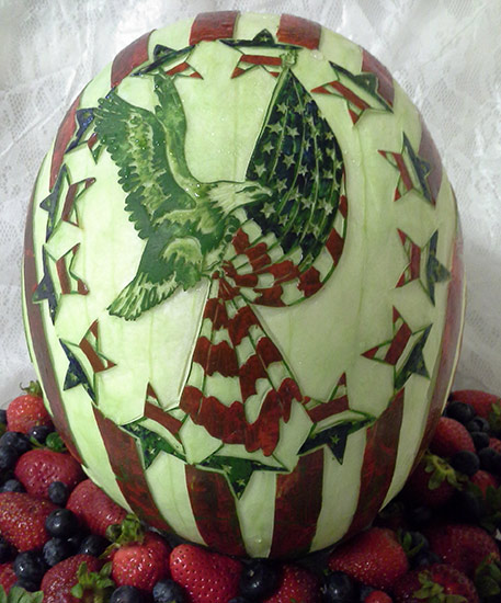 4th of July watermelon carving by Rose Flores