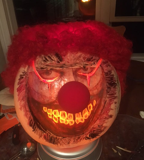Tips for Awesome Pumpkin Carvings -Creepy clown pumpkin by Brian Lueck