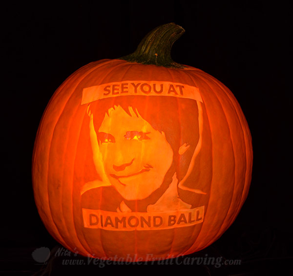 Dana Carvey pumpkin carving by NIta Gill