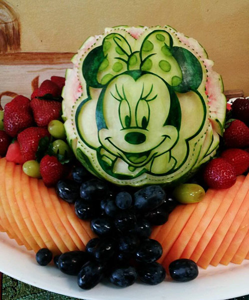 Mini Mouse Watermelon carving by Mariano Orozco