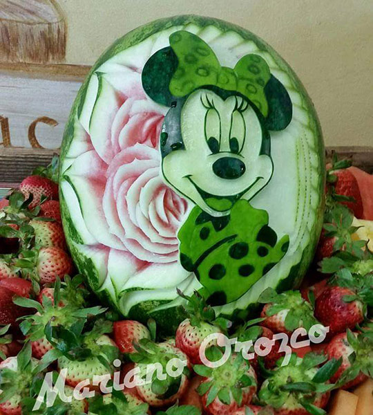 Another of Mariano's mini- Mouse watermelon carvings
