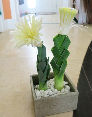 leek flower arrangement