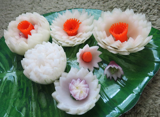 onion lotus flowers.