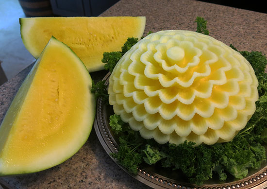 yellow watermelon flower by Xian-Baldasarra