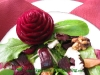 beet rose garnish