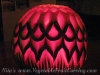 Carved watermelon lantern