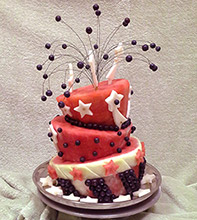 Star Spangled watermelon cake by Rose Flores