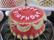 Nita's Happy Birthday Watermelon Cake