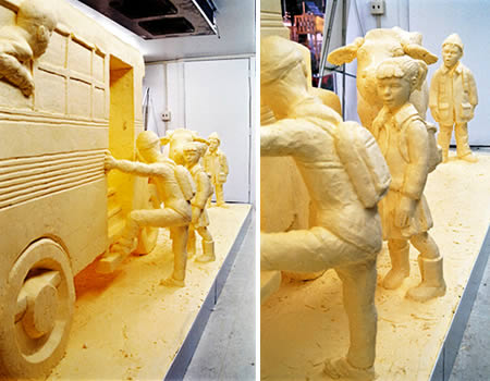 food art butter sculpture by Jim Victor
