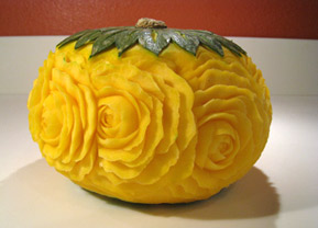 kabocha squash vegetable carving