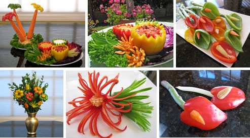 Carved Peppers