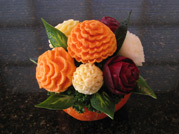 Carved Yam Bouquet