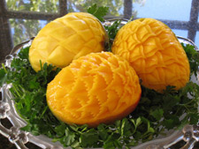 mango fruit carvings