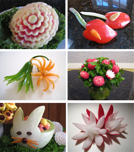 more fruit carvings taught in fruit carving 101 class
