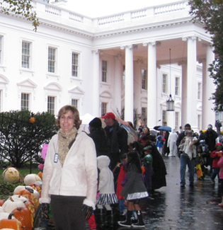 Nita at White House Treat or Treat