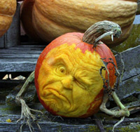 Ray Villafane pumpkin with branch arms