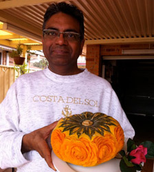 Carved Kabocha Squash by Ali Tahir