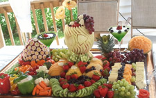 Fruit and Vegetable Carvings for Wedding by Sharron Nickerson